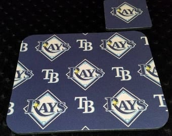 Tampa Bay Rays Mouse Pad and Coaster Set
