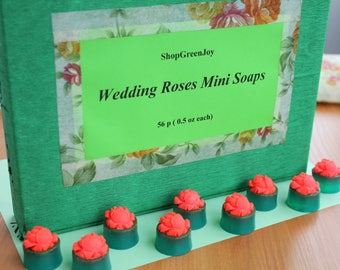 Wedding Roses Mini Soaps Wedding favor soaps Guest soaps for wedding birthday bridal shower Gifts for a crowd Guest soap bulk Mini rose soap
