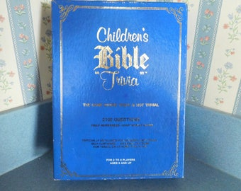 Vintage Children's Bible Trivia Game from 1984 with 2100 Questions King James Version