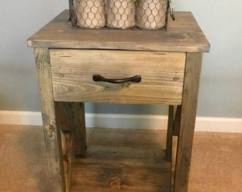 SALE Nightstand /side table/ end table/ for the home/ bedroom/ living room/ x table/ farmhouse table/rustic nightstand