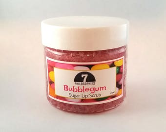 Bubble Gum Lip Scrub - 2 oz - Organic Sugar Scrub