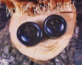 Black ebonite ear gauges Buttons - ebonite plugs Buttons - gauges in ear  buttons - ear gauges sizes 14mm 18mm 22mm 30mm 34mm 36mm 38mm