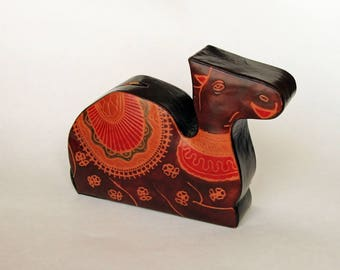 Leather Camel Moneybox