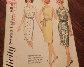Simplicity 5355, 1964 Dress Pattern size 16