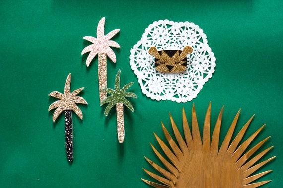 Paolo - Palm tree - Palmtree - brooch - Handmade - soft Cactus