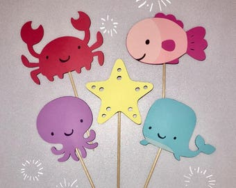 Under Water Cupcake Toppers