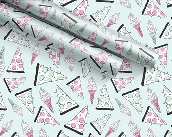 Pizza & Ice Cream Gift Wrap Sheets