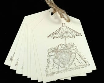 On SALE, Gift tags, Price tags, unique gift tags, blank gift tags,  stamped gift tags.