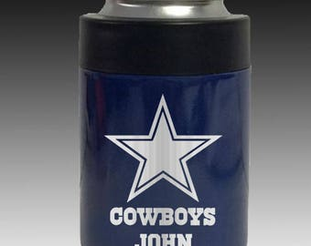 Navy RTIC or YETI Dallas Cowboys colster personalized fathers day gift etc