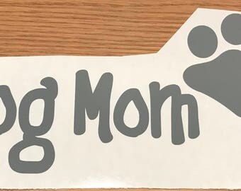 Dog or cat mom car decal with paw print