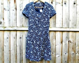 Vintage Dress - Floral Dress - Knee Length - Summer - Festival