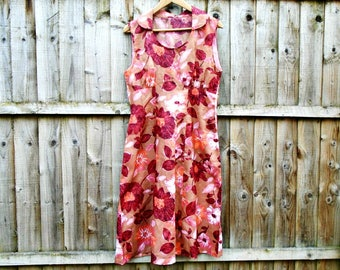 Handmade Dress - Floral Dress - Knee Length - Summer - Sleeveless