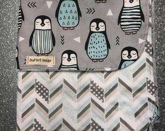 For Lurra -Custom penguin Crib Size blanket