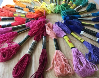 Embroidery Floss, Cross Stitch Floss, Cross Stitch Thread, Skeins, Embroidery Thread, Lots Of Colors