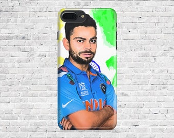 10% Off Case.Printed Viral Kohli covers - iPhone Cases: iPhone 7 Plus/ iphone 7, iPhone 6/6s/6+, 6+s, 5/5S. Printed IPhone case.
