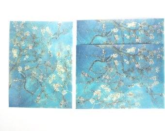 Almond Blossoms Watercolour Envelope Set, Letter Envelopes - LT026