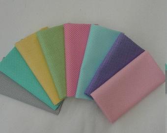 Sweet Pastel Micro  Dot Fabric Bundle
