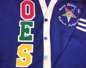 Old School Letter  - OES cardigan