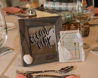 Table numbers Jersey Shore theme