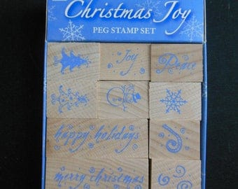 Christmas Joy Stamp set of 10