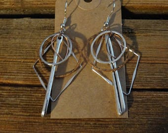 Mixed Media Silver and Coppe Earrings