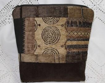 Men's Brown velvet pouch