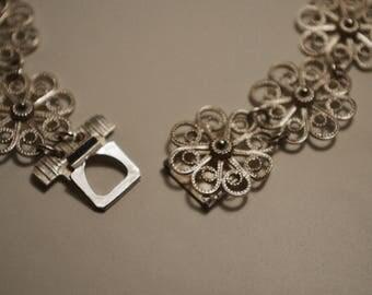 Silver filigree bracelet - 830S