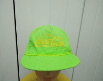 Rare Vintage ENJOY COCA COLA Cap Hat Free size fit all