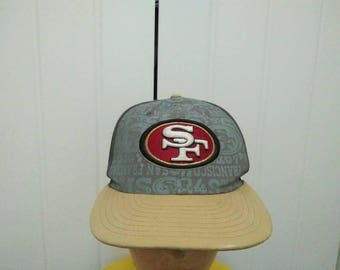 Rare Vintage SAN FRANCISCO 49 ERS Big Logo Embroidered Cap Hat Free size fit all