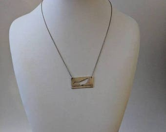 ON SALE Vintage Sterling Silver Necklace with Silver Bird Pendant