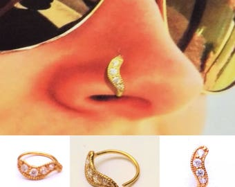 Nose Ring in Pure 11carat Yellow Gold