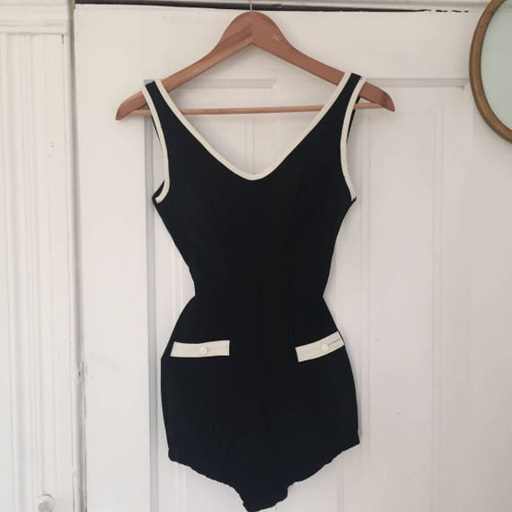 vintage 50s retro swim suit / size sx