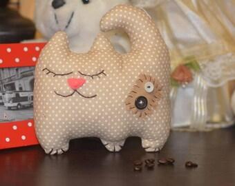 Handmade Cat Stuffed Decoration Kitten Tilda Toy