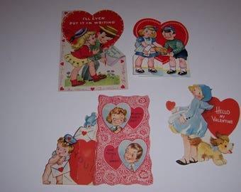 Vintage Valentine Cards, 1940's, 1950's Valentines