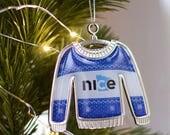 Nice Minnesota Ugly Sweater Ornament - Christmas Ornament, State Ornament, Minnesota Ornament, Shatterproof Ornament - FREE SHIPPING