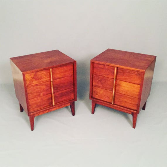 Mid-Centrury restored a pair of night stands