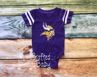 Minnesota Vikings Themed Bodysuit Baby Toddler Youth Adult Shirt