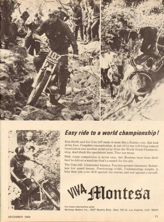 1969 Montesa Cota 247 Motorcycle Don Smith Ad #nbh13