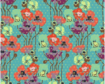 Floral Retrospective Fabric ~ Raindrop Poppies Candy ~ by Anna Maria Horner for Free Spirit Fabrics