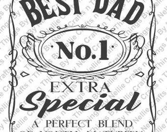 Best Dad No 1 SVG