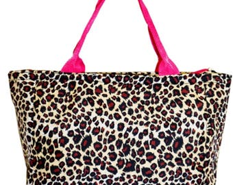 Insulated Lunch Tote Bag, Leopard Print