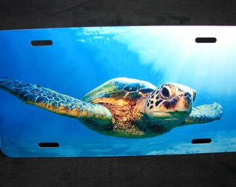 TURTLE, SEA TURTLE Metal License Plate Tag For Cars And Suvs... Animal love... Turtle Lovers...