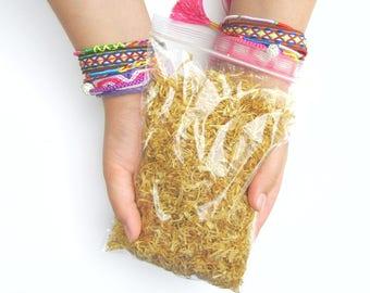 Marigold Flower Bath Soak | Dried Flower Petals | Womens Skincare Mens Grooming | Soap Making Botanical Craft Supplies