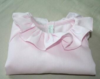 Shirt / blouse / tunic / frill collar baby girl