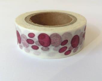 A Washi tape 10 m / washi tape (masking tape) paws pink 1.5 cm x 10 m