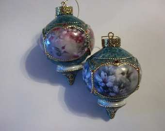 Bradford Exchange Lena Liu's Treasury of Jeweled Hummingbird Ornaments, Christmas Ornaments, Porcelain Ornaments, Lena Liu, Hummingbirds