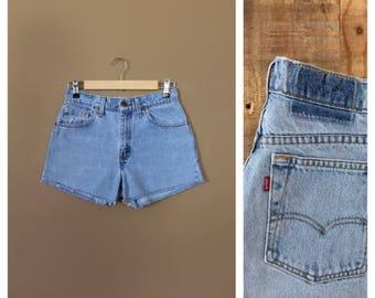 Levis High Waisted Denim Shorts / Levis Shorts /90s Denim Shorts /Levi High Waisted Denim Shorts /Jean Shorts / Cutoff Shorts / Levis