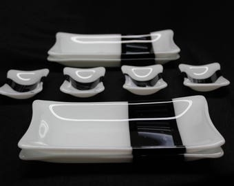 8 piece Fused Glass Sushi set