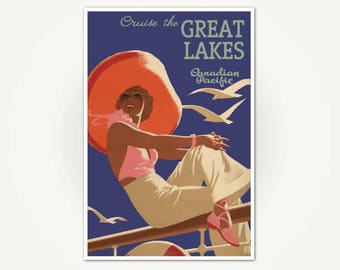 Great lakes poster   Etsy