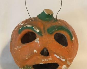Antique Papier-mâché Halloween Jack O Lantern